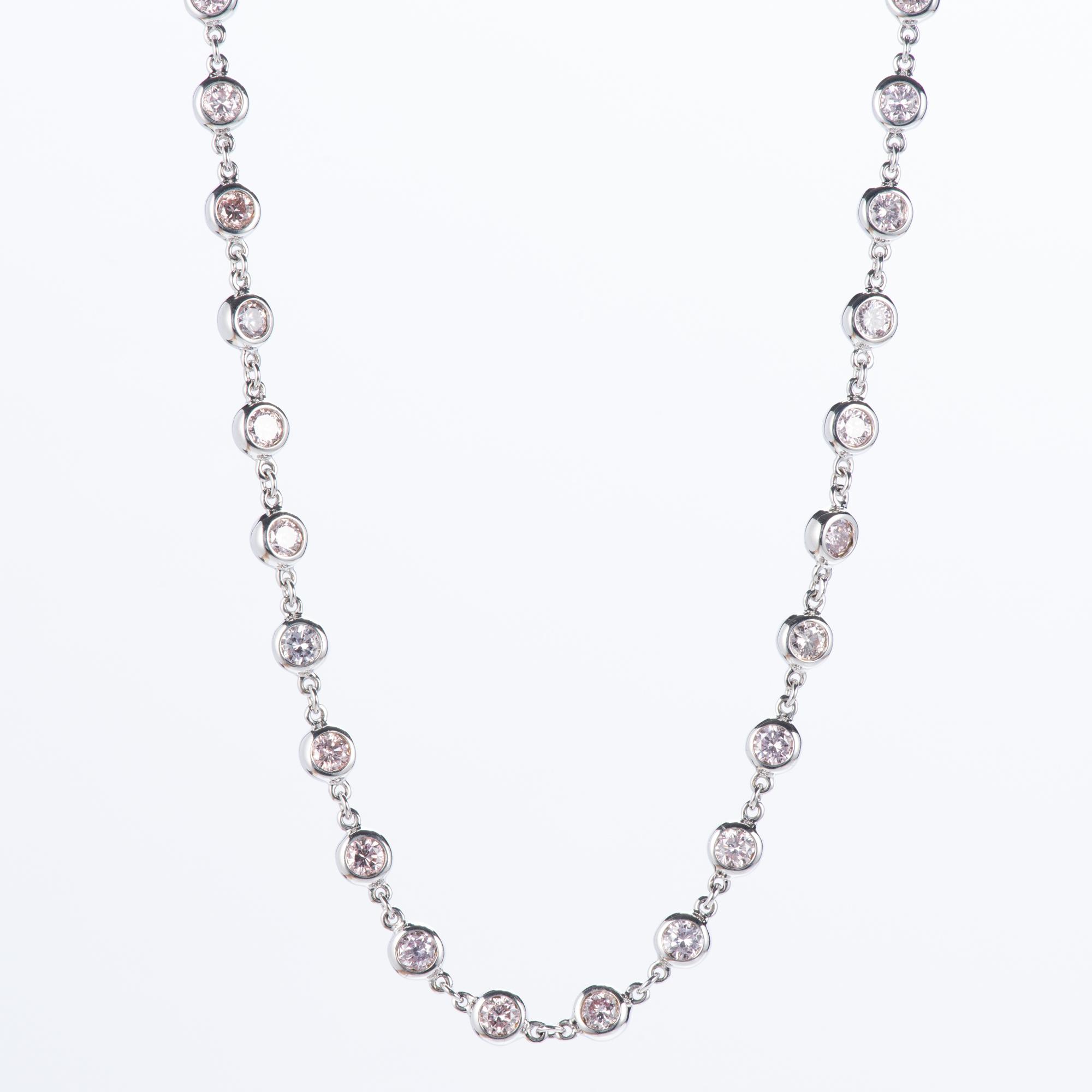 5.17ct ピンクダイヤモンドネックレス ホワイトゴールド製