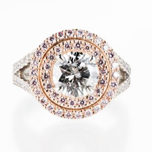 1.5ct ダイヤモンドリング D IF GIA argyle pink